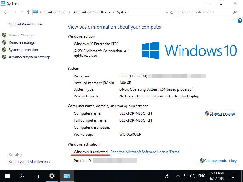 Windows 10 Enterprise LTSC, scrn 37